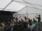 Lectures and workshops in the seminar tent